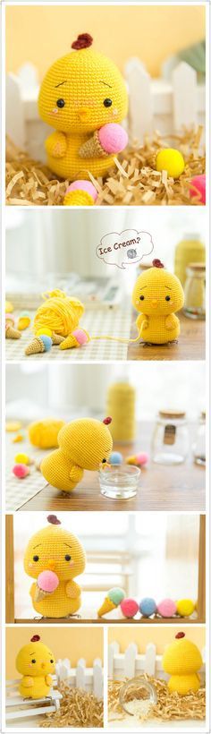 Handmade Easter Fat Chicken Crochet Chick Amigurumi Pattern