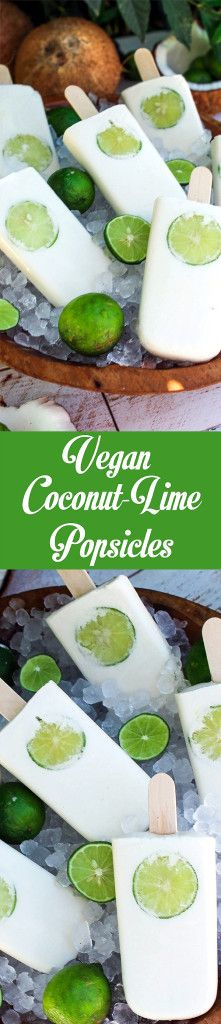 Are you ready for the perfect summer treat? These vegan Coconut-Lime Popsicles are healthy and refreshing. They are creamy and bursting with zesty flavor. #glutenfree #vegan #vegandessert #popsicles Vegan Coconut-Lime Popsicles - http://veganhuggs.com/coconut-lime-popsicles/