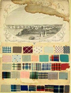 carnet d'échantillons de textile, quadrillé