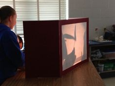Shadow puppet stage.