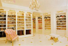 I will have a shoe closet.... and everyone can borrow my shoes!