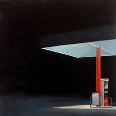 """""""Full Pump"""" Oil on Canvas by Trevor Young  dig the negative space."""