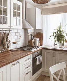 Kitchen Room Design, Kitchen Cabinet Design, Kitchen Redo, Home Decor Kitchen, Interior Design Kitchen, Home Kitchens, Kitchen Remodel, Interior Decorating, Kitchen Furniture