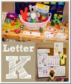Home Preschool ~ Letter K Awesome preschool curriculum!
