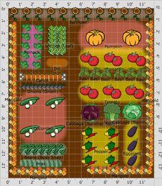 Easy Garden Design Ideas You Can Do Yourself 19 Vegetable Garden Plans & Layout Ideas That Will Insp Vegetable Garden Planner, Raised Vegetable Gardens, Vegetable Garden Design, Vegetable Gardening, Gardening Vegetables, Small Garden Layout, Garden Layouts, Small Garden Plans, Plantar
