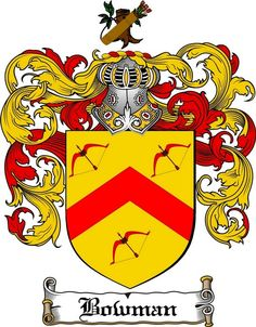 bowman family crest bowman coat of arms gifts available at WWW.4CRESTS.COM #heraldry #family #crest #shield #crests #shields #genealogy #coatofarms