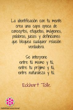Textos Emocionales Eckhart Tolle