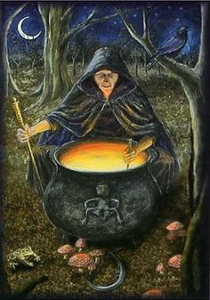 Cerridwen represents the darker element of the Goddess and is considered a wise crone. She oversees to the cauldron of knowledge and tends to the Awen (divine/poetic inspiration) She is associated with knowledge, magic and transformation.