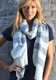 Women's Corsica Stripe Oversized Scarf Anika Dali. $17.50