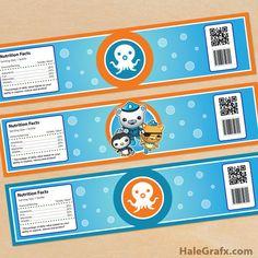 FREE Printable Octonauts Water Bottle Labels