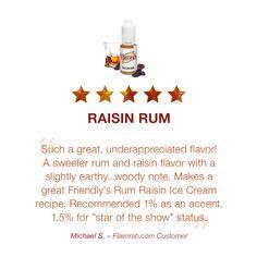 Rum Raisin Ice Cream, Vegetable Glycerin, Vape Juice, Ice Cream Recipes, Raw Materials, Food Grade, Glass Bottles, Earthy, A Food