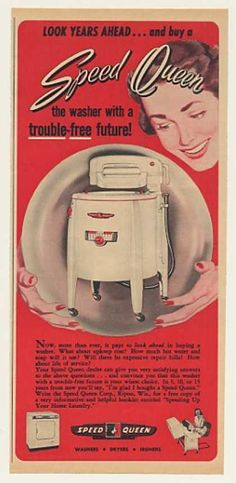 Speed Queen Wringer Washer Trouble-Free Future (1951)