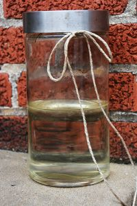 Jar of ant poison