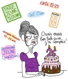 Risultati immagini per penelope bagieu bon anniversaire Funny Images, Funny Pictures, Photo Humour, French Phrases, Funny Illustration, Happy Birthday Wishes, Birthday Cards, Fun Comics, Sweet Words