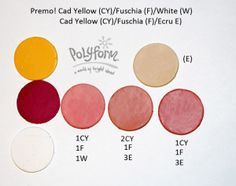Premo! Fuchsia mixed with Cadmium Yellow and White: Fuchsia mixed with Cadmium…