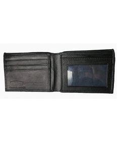 dcc2c2588e9e8 RFID Bi-Fold Leather Wallet RFID1160 by - Black - C9115ARYW5N
