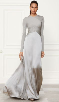 Ralph Lauren...Wow, love this silhouette. Change to bridal fabric & add embellishments that fits your style. The budget is the only limitation. Try a hint of color for that modern but elegant loook.