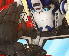 -A Gentle Giant- A little gift for paixchasseur a very late birthday present, but I hope you like it. Transformers Characters, Transformers Bumblebee, Transformers Optimus Prime, Good Night Everybody, Rescue Bots, Robot Art, Gentle Giant, Bounty Hunter, Fantasy Creatures