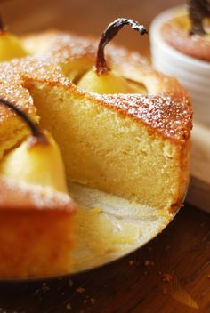 Vanilla Cake with Pears