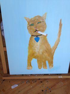Bad kitty painting in progress
