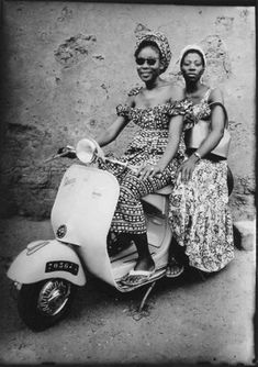 African ladies on moped