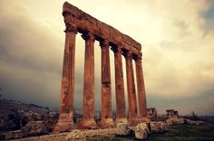Columns from the Temple of Jupiter in Baalbek