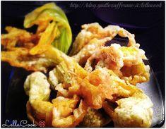 Fiori di zucca fritti ripieni|Ricetta originale - http://blog.giallozafferano.it/lellacook/fiori-di-zucca-fritti-ripieni/