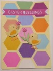 Easter Card; hexagons and saying from Silhouette Cameo