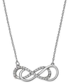 Silver double infinity diamond pendant necklace 167 110cttw silver double infinity diamond pendant necklace 167 110cttw amazon curated collectionhttpamazondpb00dymjmdmrefcmswrpidpa aloadofball Image collections