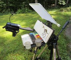James Gurney: Your Questions about Gear (his plein air watercolor and gauche setup)