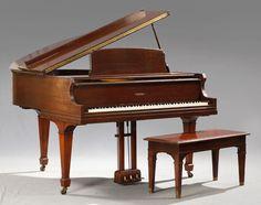 Gulbransen Mahogany Baby Grand Piano, c. 1930