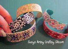 popsicle stick bracelets kids crafts10