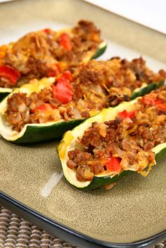These veggie-stuffed boats make a great summer dish and are made with cornbread stuffing, shredded carrots, onion and low-fat cheese. They are also wonderful paired with any meat.