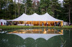 Beautiful Berkshires Wedding with a Classical Tents White Pole Tent
