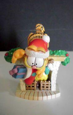 Garfield Christmas Ornament Garfield Hanging Over Fireplace