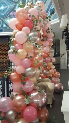 Perfect blend of Colors~Party Time! Balloon Backdrop, Balloon Columns, Balloon Garland, Balloon Ideas, Wedding Balloons, Birthday Balloons, Birthday Parties, Ballon Decorations, Birthday Decorations