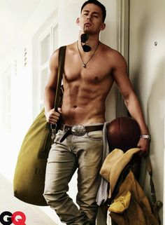a seabag carrying, basketball playing, rolex wearing, aviator rocking and cowboy hat wearing man named Channing Tatum. damn you, GQ, for creating the perfect man that doesnt exist...does he?