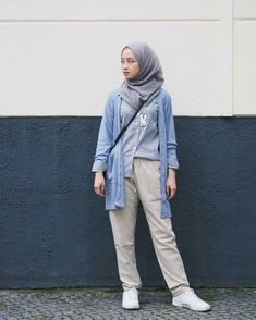 Best Style Fashion Hijab Casual Simple 278 Best Casual Hijab Outfit Images In 20 Hijab Casual, Ootd Hijab, Hijab Chic, Hijab Dress, Modern Hijab Fashion, Street Hijab Fashion, Hijab Fashion Inspiration, Muslim Fashion, Fashion Outfits