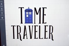 This tee is perfect for Doctor Who lovers and is so easy to make with your Cricut now that the TARDIS has landed in Design Space! Insert Image, T Set, Police Box, T Shirt Diy, Cricut Explore, Tardis, Time Travel, Silhouette Cameo, Fun