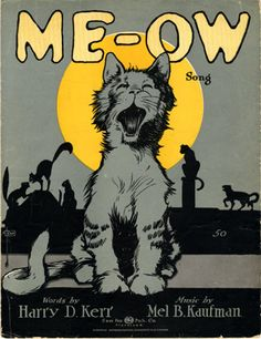 Search images of sheet music covers depicting 'Cats, Felines' - page 5