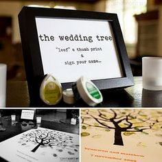 Wedding Tree Guest Book for Lindsay....several inspiration pics in the post...
