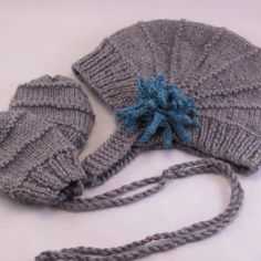 Aviatrix Hat and Mittens  http://www.ravelry.com/patterns/library/aviatrix-baby-hat