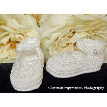 Crochet Christening Booties