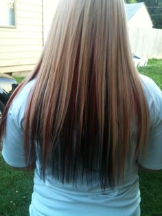 Blonde Highlights with Dark Underneath | Blonde Highlights Tumblr Hd Black Hair With Red And Blonde Highlights ...