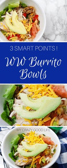 Easy Weight Watchers Freestyle Lunch Recipe Ideas If you are looking for a great choice on those days when you are nearly out of points till evening rolls around, these WW burrito bowls are the answer! Weight Watchers Lasagna, Weight Watchers Lunches, Weight Watchers Breakfast, Weight Watcher Dinners, Ww Recipes, Lunch Recipes, Healthy Dinner Recipes, Shake Recipes, Mexican Recipes