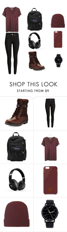 """""""Untitled #18"""" by rosa-linda-666 ❤ liked on Polyvore featuring UGG, H&M, JanSport, Madewell, Beats by Dr. Dre and Native Union"""