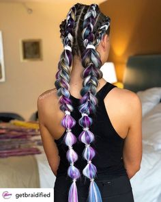 Blinged-out festival braids are the perfect summer hairstyle! Rock your summer w… Blinged-out festival braids are the perfect summer hairstyle! Rock your summer w # festival Braids colorful # long Braids with extensions Box Braids Hairstyles, Cool Hairstyles, Short Hair Updo, Curly Hair Styles, Natural Hair Styles, Festival Braid, Long Braids, Braids Easy, Braids Cornrows