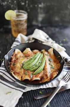 Chipotle & Pumpkin Veggie Enchiladas | A Beautiful Mess | Bloglovin'