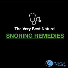 Get the best snoring remedies that works fast. Try one of these remedies and you are sure to stop snoring tonight.