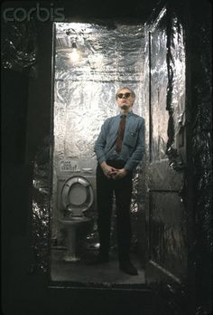 The Factory bathroom, decorate by Billy Name